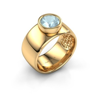 Ring Klarinda 585 Gold Aquamarin 7 mm