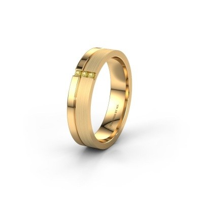 Trouwring WH0157L14XPM 585 goud gele saffier ±4,5x1.4 mm