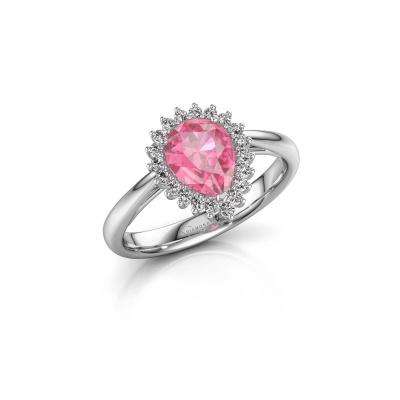 Bild von Verlobungsring Tilly per 1 925 Silber Pink Saphir 8x6 mm