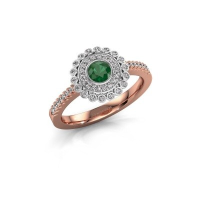 Engagement ring Shanelle 585 rose gold emerald 4 mm