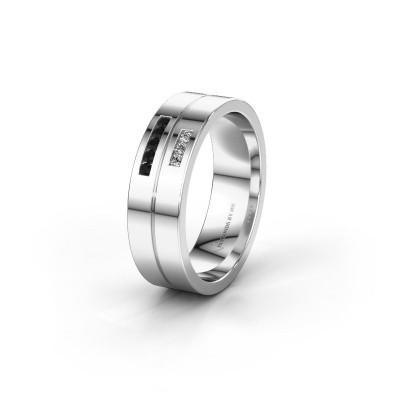 Ehering WH0207L16AP 950 Platin Schwarz Diamant ±6x1.7 mm