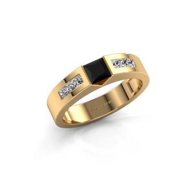 Foto van Verlovings ring Arlena 2 375 goud zwarte diamant 0.78 crt