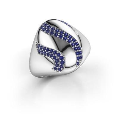 Ring Vilma 585 witgoud saffier 1.2 mm