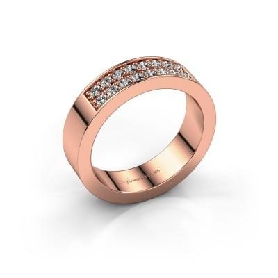 Aanschuifring Catharina 5 375 rosé goud diamant 0.32 crt