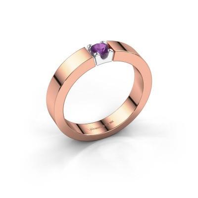 Foto van Belofte ring Dana 1 585 rosé goud amethist 3.7 mm