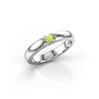 Engagement ring Rianne 1 950 platinum peridot 3 mm