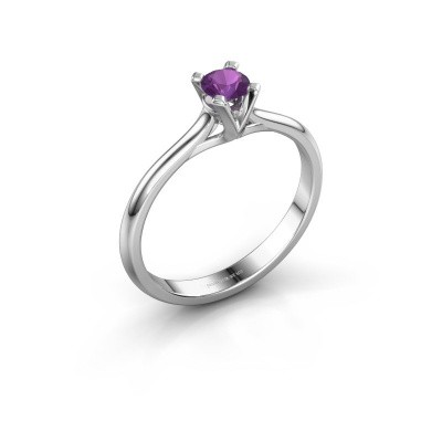 Picture of Engagement ring Isa 1 950 platinum amethyst 4 mm
