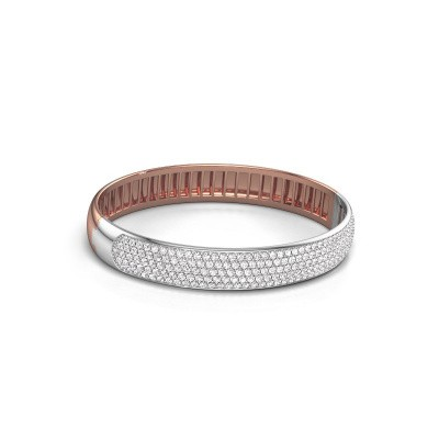 Foto van Slavenarmband Emely 10mm 585 rosé goud lab-grown diamant 4.355 crt