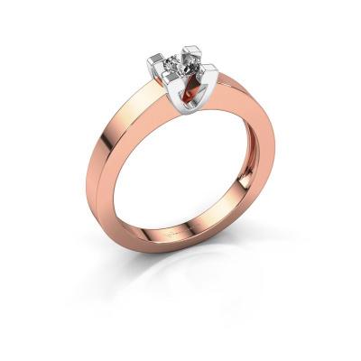 Promise ring Anne 1 585 rosé goud diamant 0.15 crt