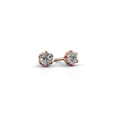 Foto van Oorstekers Fran 375 rosé goud diamant 0.30 crt