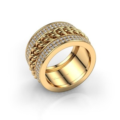 Picture of Ring Jayda 375 gold zirconia 1.2 mm