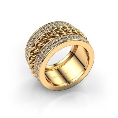 Foto van Ring Jayda 375 goud zirkonia 1.2 mm