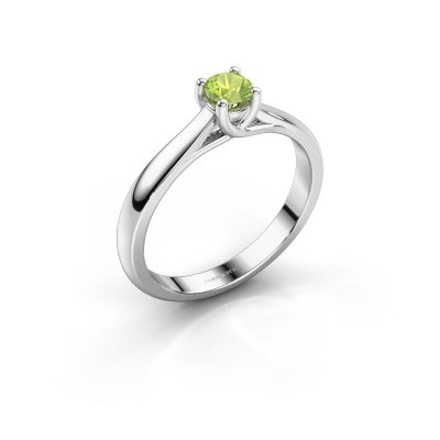 Engagement ring Mia 1 925 silver peridot 4 mm