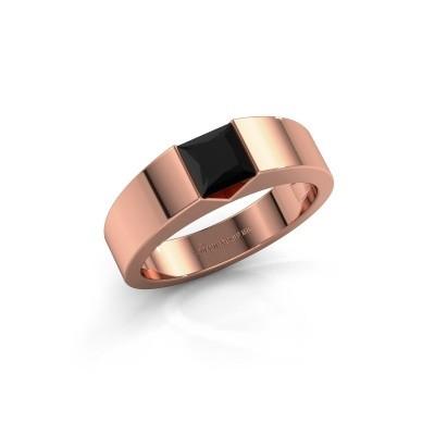 Foto van Verlovingsring Arlena 1 375 rosé goud zwarte diamant 0.48 crt