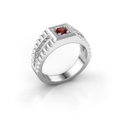 Men's ring Maikel 925 silver garnet 4.2 mm