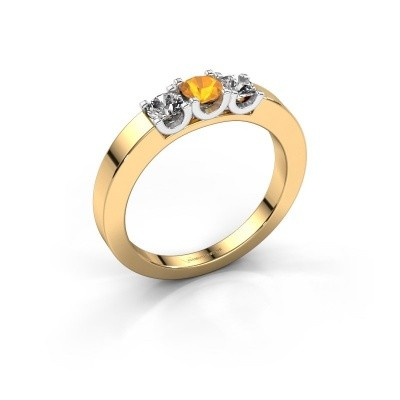 Picture of Engagement ring Selina 1 585 gold citrin 3.7 mm