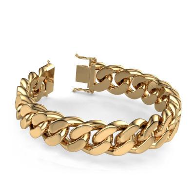 Foto van Cuban armband ±17 mm 585 goud