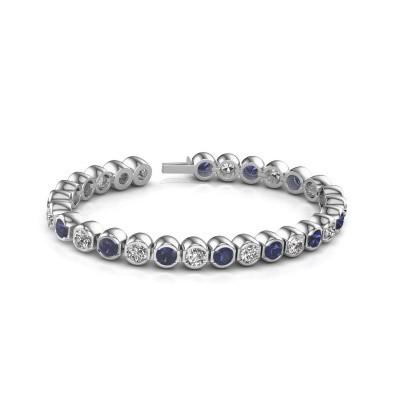 Foto van Tennisarmband Bianca 5 mm 585 witgoud diamant 7.00 crt