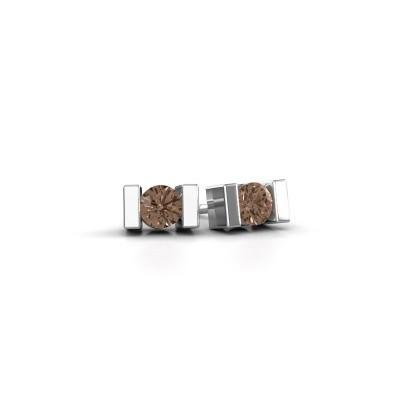 Oorstekers Lieve 925 zilver bruine diamant 0.40 crt