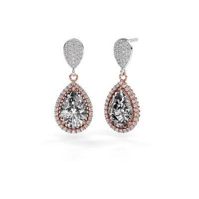 Pendants d'oreilles Tilly per 2 585 or rose diamant 6.690 crt