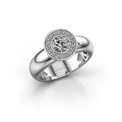 Foto van Stapelring Anna 585 witgoud diamant 0.635 crt