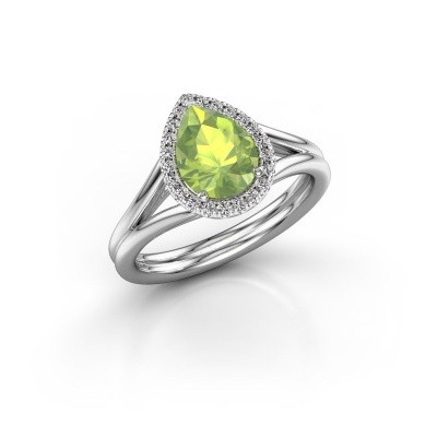 Picture of Engagement ring Elenore 585 white gold peridot 8x6 mm