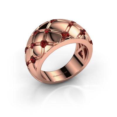 Ring Imke 585 rose gold garnet 2.5 mm
