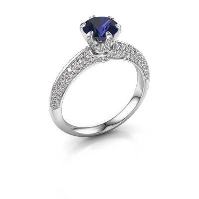 Picture of Engagement ring Abby 925 silver sapphire 6.5 mm
