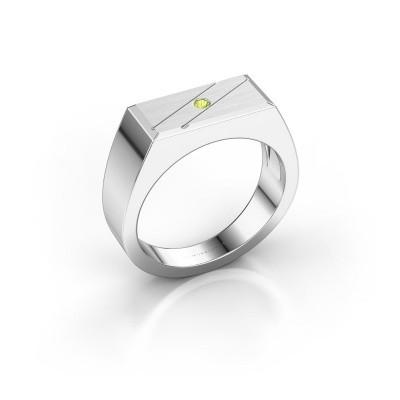 Men's ring Dree 3 585 white gold peridot 2 mm