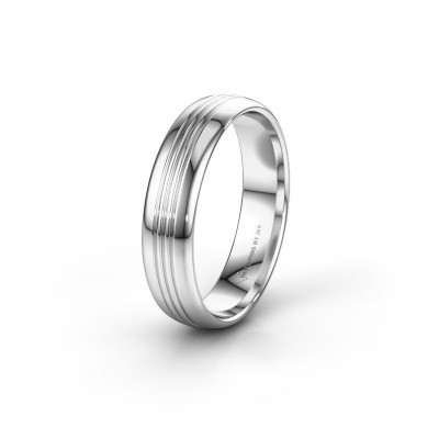 Wedding ring WH0405M35X 585 white gold ±5x1.5 mm