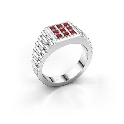 Foto van Rolex stijl ring Chavez 925 zilver robijn 2 mm