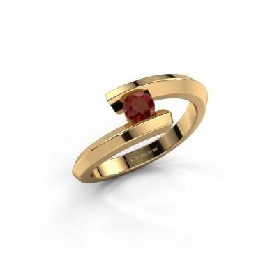 Ring Paulette 585 goud granaat 3.4 mm