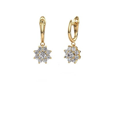 Drop earrings Camille 1 375 gold diamond 1.38 crt
