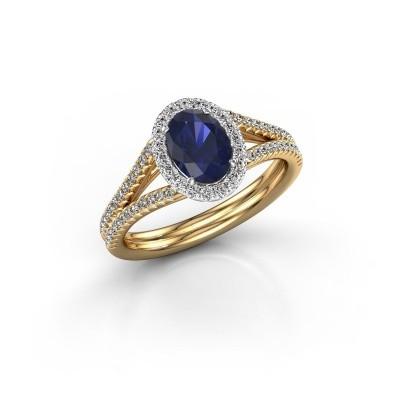 Engagement ring Rachele 2 585 gold sapphire 7x5 mm