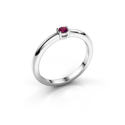 Picture of Engagement ring Michelle 1 585 white gold rhodolite 2.7 mm