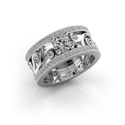 Photo de Bague Sanne 585 or blanc diamant synthétique 1.13 crt