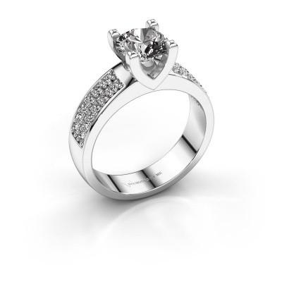 Foto van Aanzoeksring Isabella 3 585 witgoud diamant 1.00 crt