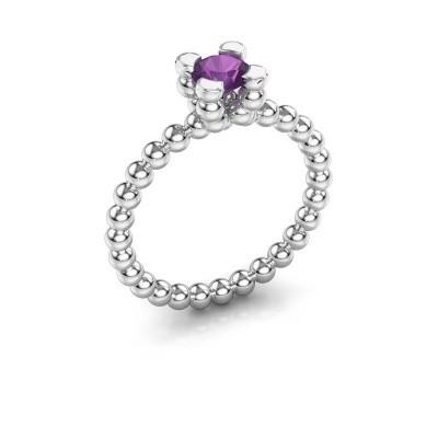 Ring Aurore 950 platina amethist 5 mm