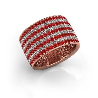 Foto van Ring Macy 375 rosé goud robijn 1.4 mm