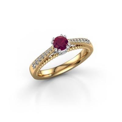 Foto van Verlovingsring Rozella 585 goud rhodoliet 4.2 mm