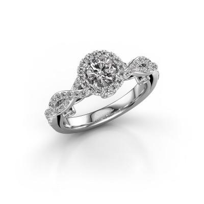 Foto van Verlovingsring Madeleine 585 witgoud diamant 0.972 crt