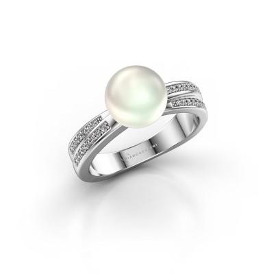 Foto van Ring Jolies 925 zilver witte parel 8 mm