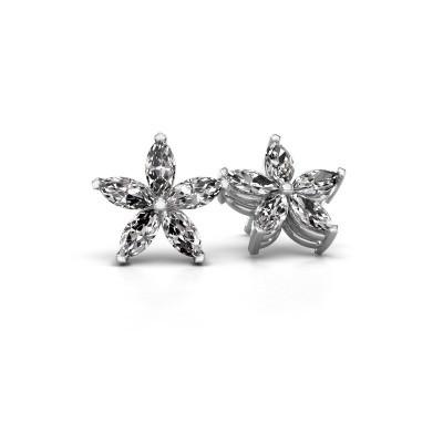 Picture of Stud earrings Sylvana 925 silver diamond 1.40 crt