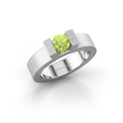 Picture of Ring Leena 1 925 silver peridot 5 mm