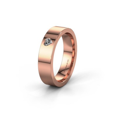 Trouwring WH0101L15BPHRT 375 rosé goud diamant ±5x2 mm