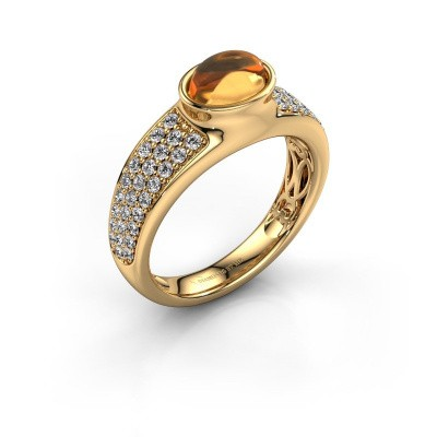 Ring Tatyana 585 Gold Citrin 7x5 mm