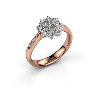 Verlovingsring Carolyn 2 585 rosé goud diamant 0.548 crt