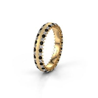 Trouwring WH2139L24B 375 goud zwarte diamant ±4x2 mm