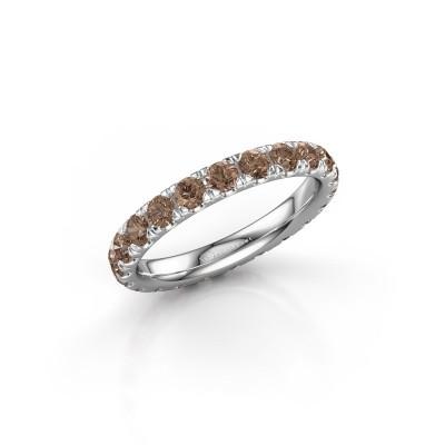 Bild von Vorsteckring Jackie 2.7 950 Platin Braun Diamant 1.76 crt