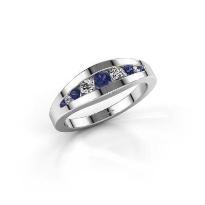Ring Oneida 585 witgoud saffier 3 mm